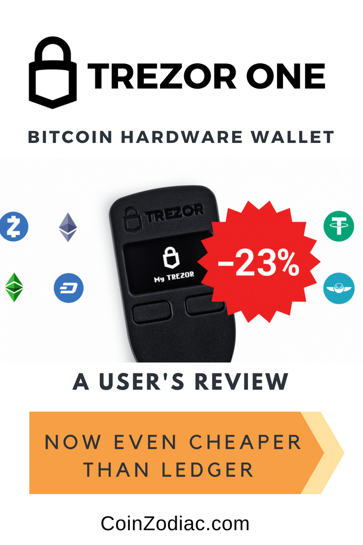 cryptocurrency hardware wallet trezor one