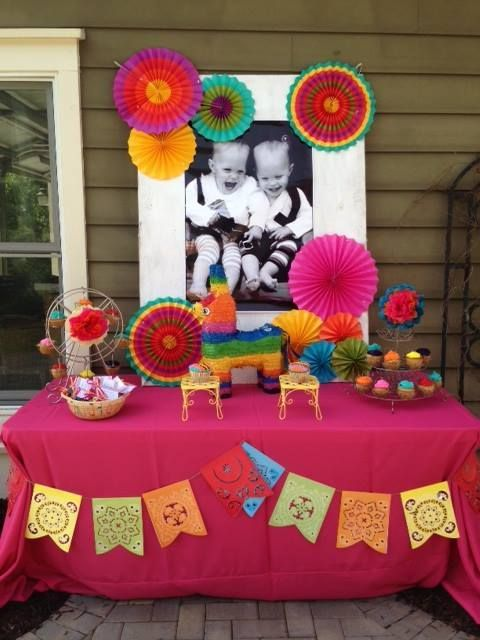 Fiesta birthday party ideas fiestas mexicans and birthdays for Decoracion de mesas para fiestas