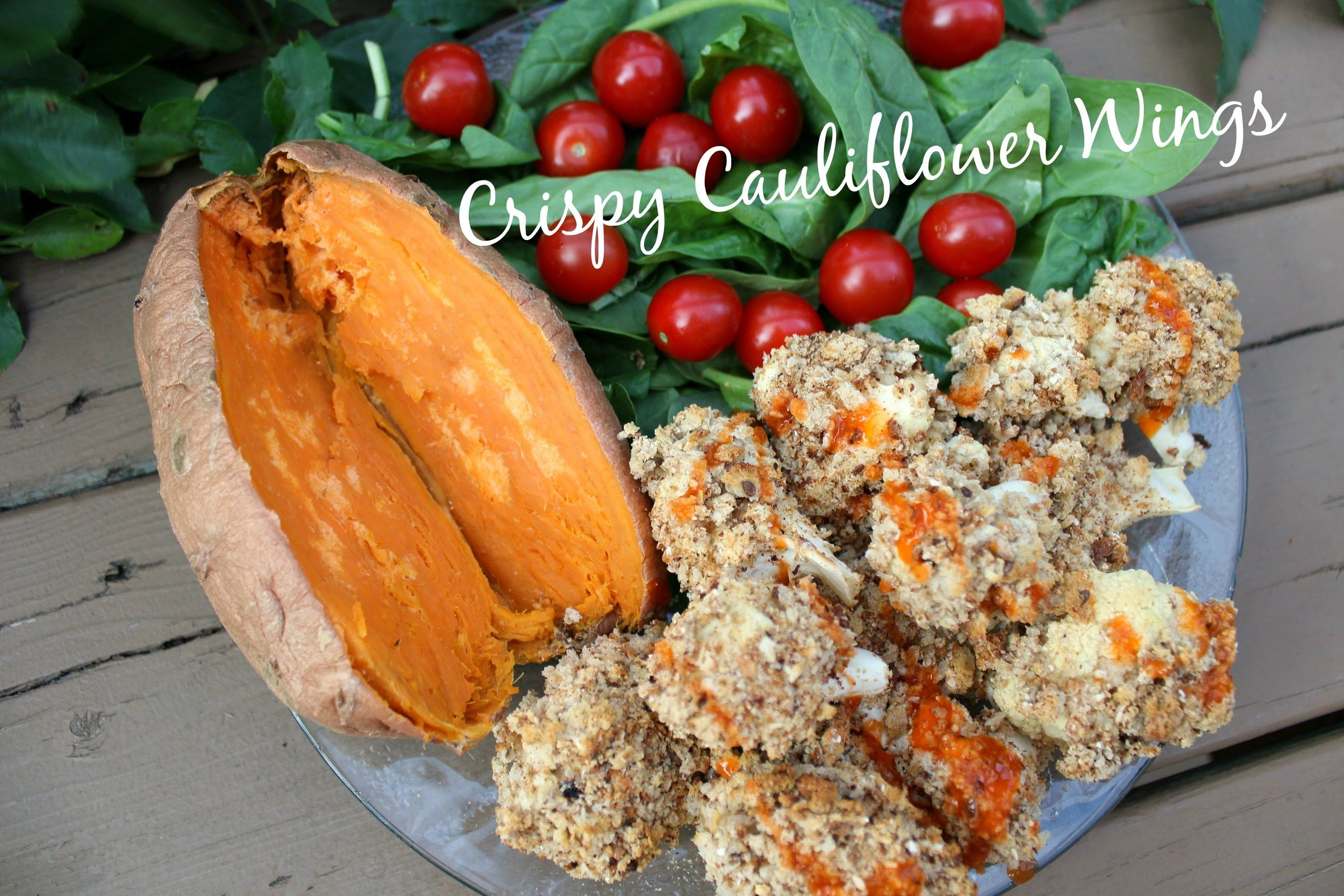 Crispy Cauliflower Wings   EASY, VEGAN, HEALTHY