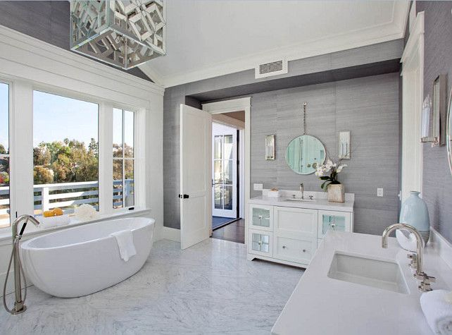 Beautiful Master Bathroom Design. Bathroom With Two Separate Vanities.  #MasterBathroom #Bathroom