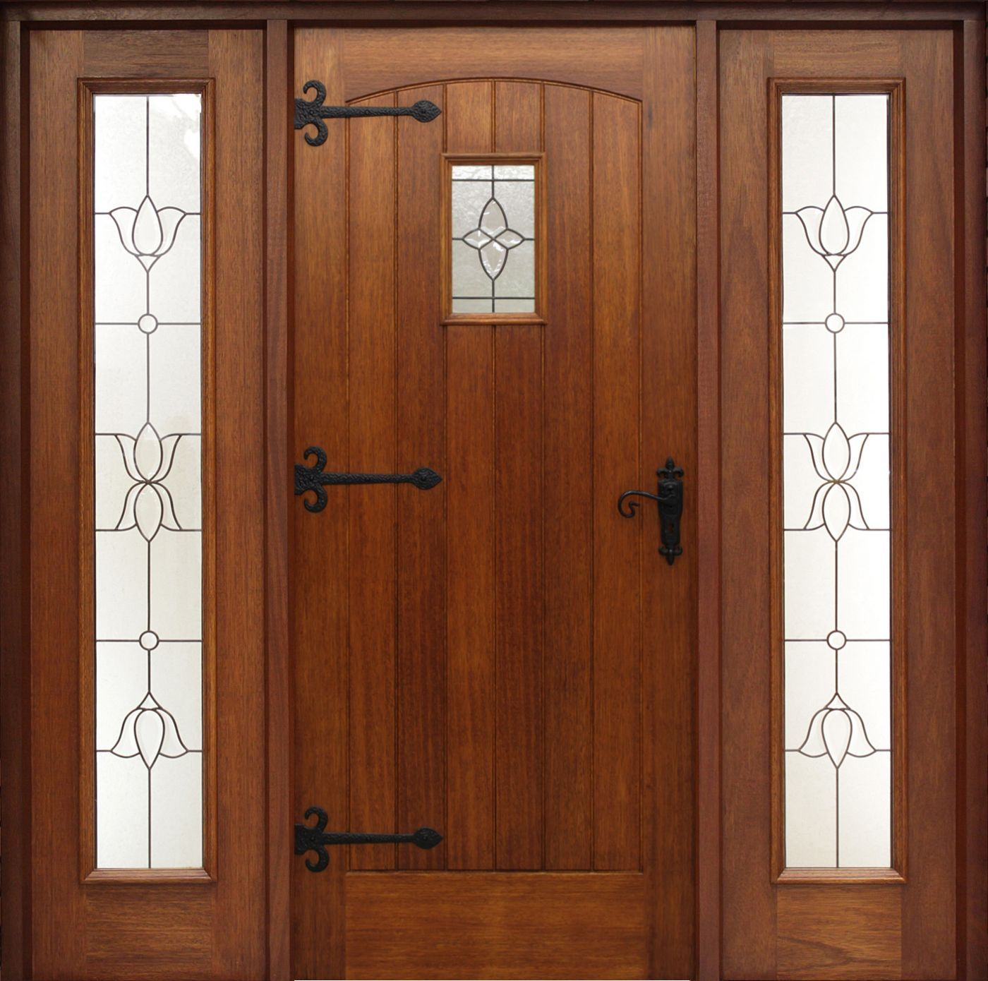 Mobile Home Cottage Door: Cottage Pre-Glazed (44mm) Shown With Sidelights