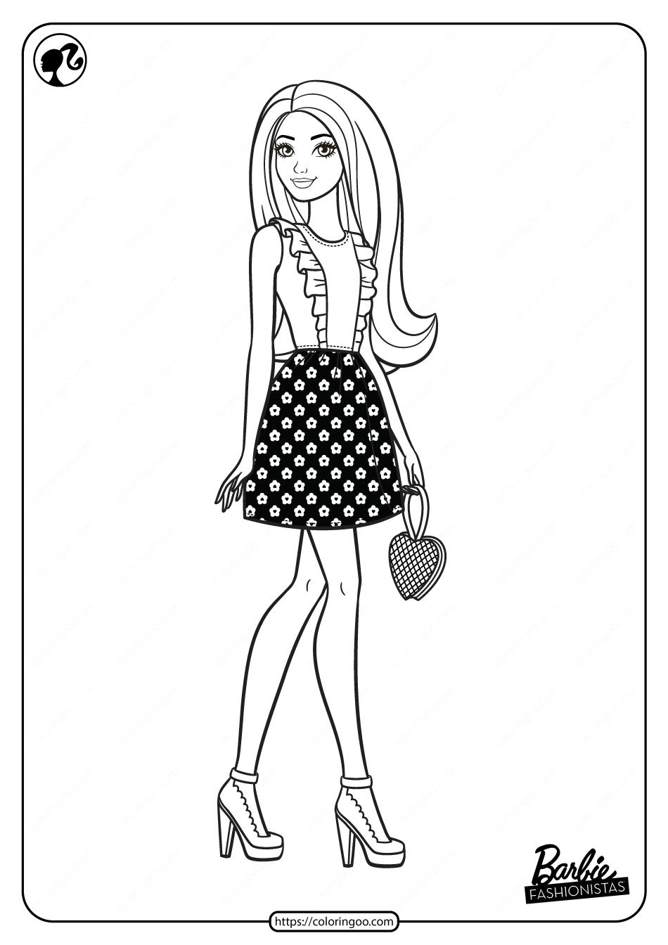 41+ Barbie coloring pages pdf ideas