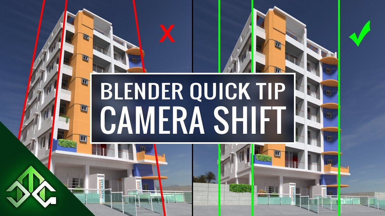 Blender Tip - Camera Shift for Architecture Renders | TNS