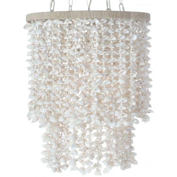 Drum Pendant Lamp White Bubble Seashells Pendant Lamp