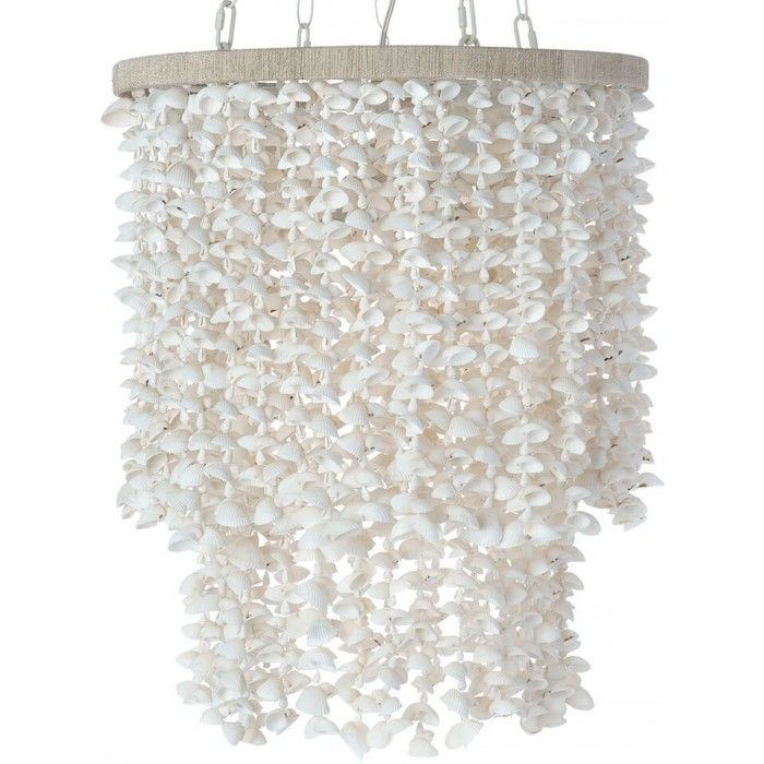 drum pendant lamp white bubble seashells lighting by kouboo