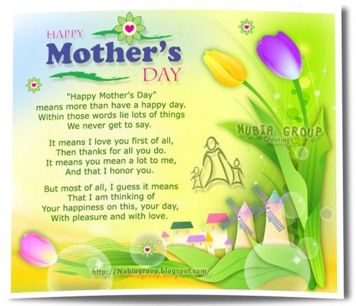 Happy Mother S Day Religious Quotes: Printable Mother's Day Poems