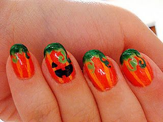 Pumpkin nails for Halloween