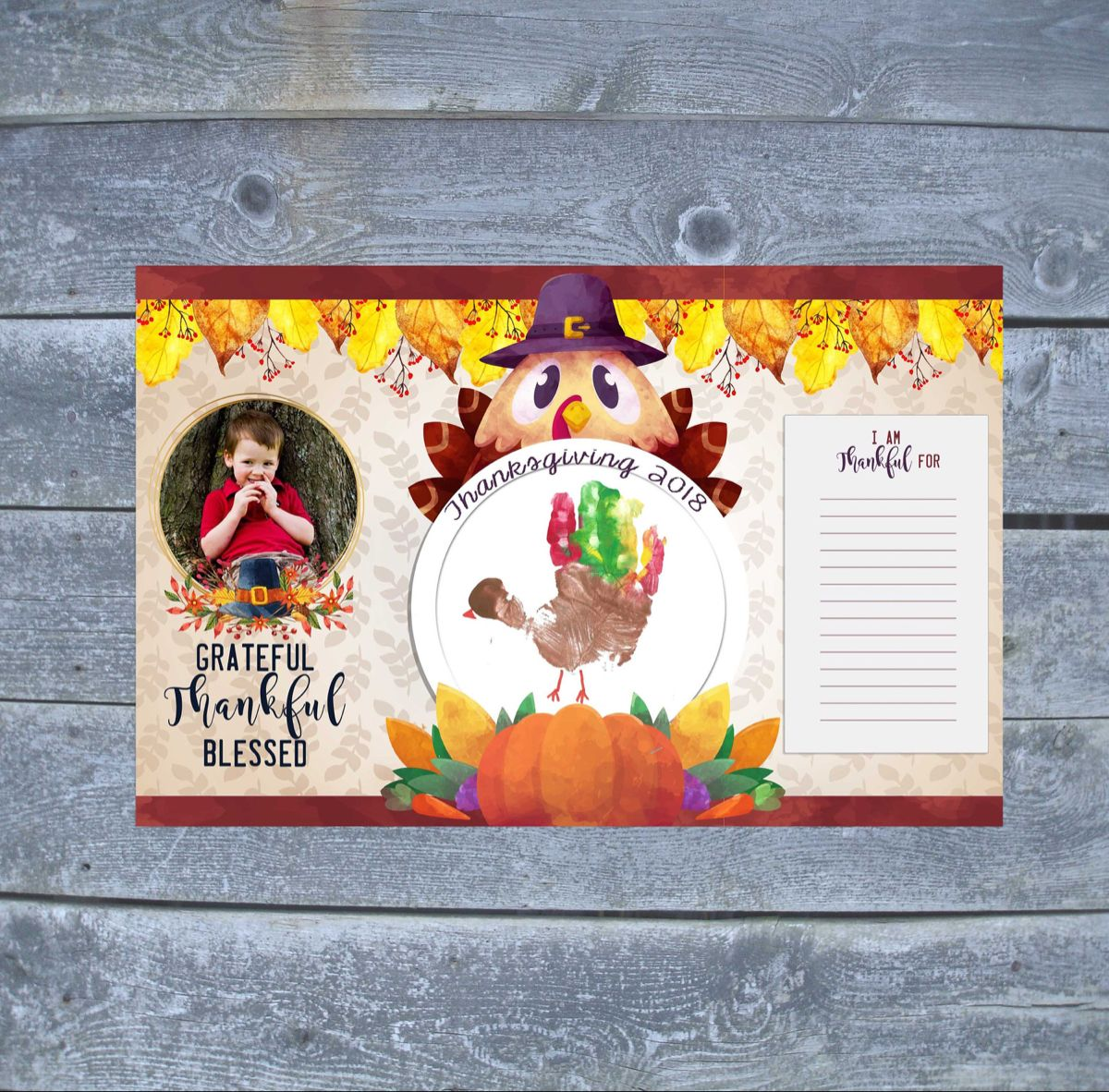 Thanksgiving Placemat - Thanksgiving Craft for Kids - Thanksgiving Turkey Decor - Thanksgiving Gift - Download or custom