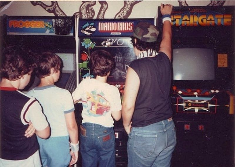 Image result for arcade friends playing 1980s