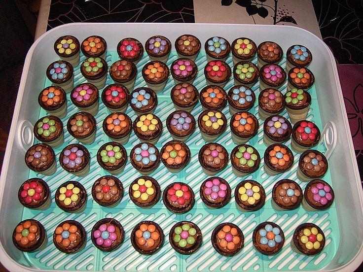 Kleine Kuchen im Waffelbecher  Torte  Backen