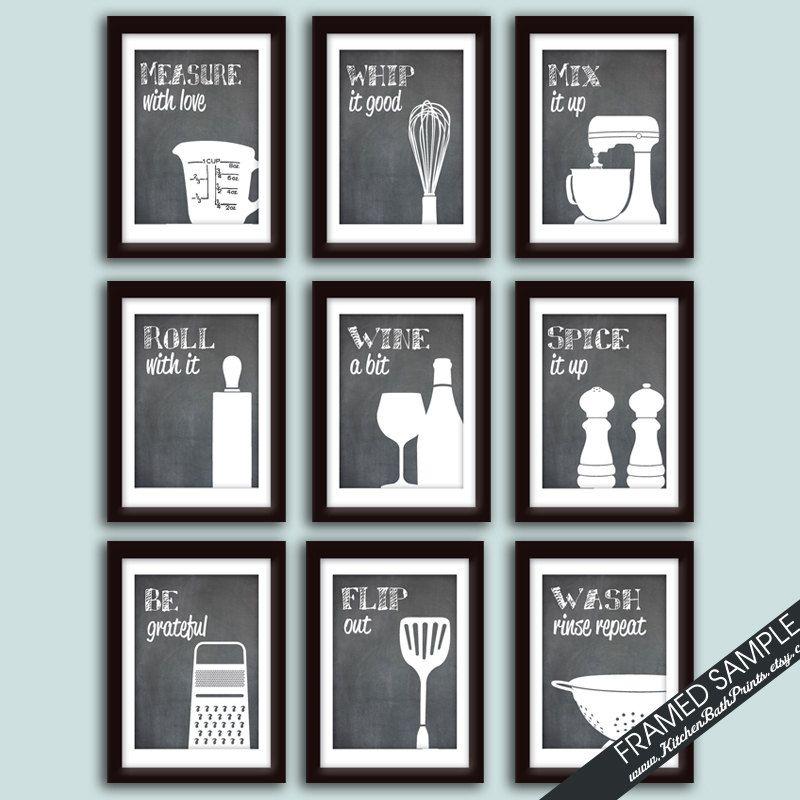 Funny Kitchen Art Print Set Set Of 9 Art Prints Featured On