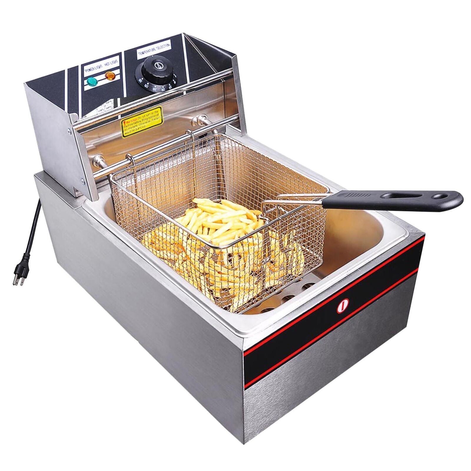 Details About 6l Electric Deep Fryer Commercial Countertop Basket