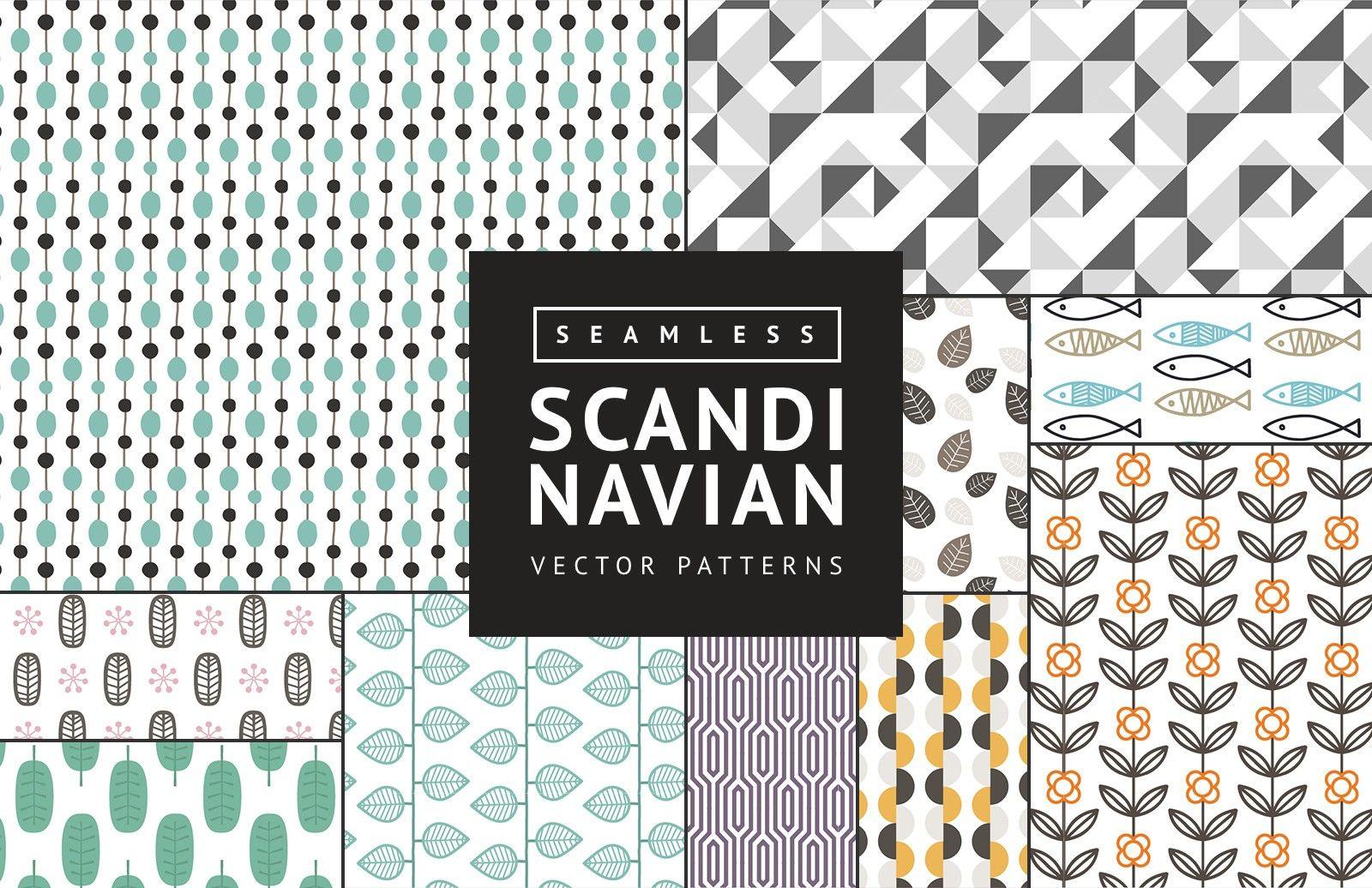 Medialoot Seamless Scandinavian Vector Patterns Vector Pattern Scandinavian Design Pattern Background Patterns