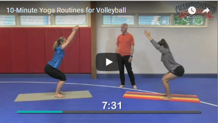 10 Minute Yoga Routines For Volleyball Volleyball Volleyball Training Yoga Routine
