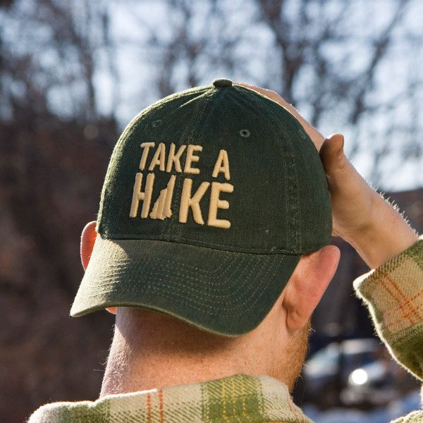 a9647b8118f86 Take A Hike Green New Hampshire Baseball Hat from Chowdaheadz. Super soft  with an awesome vintage wash