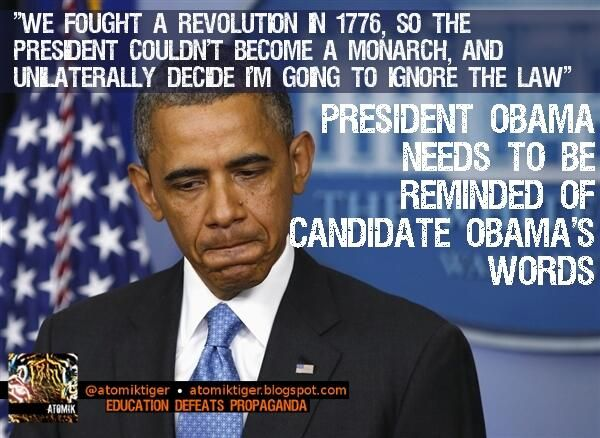 "#Obama: ""Revolution...so we wouldn't hv a monarch who ignores the law"" http://bit.ly/1aY24A8  #PJNET #tgdn #tcot pic.twitter.com/QAQq43z3S9"