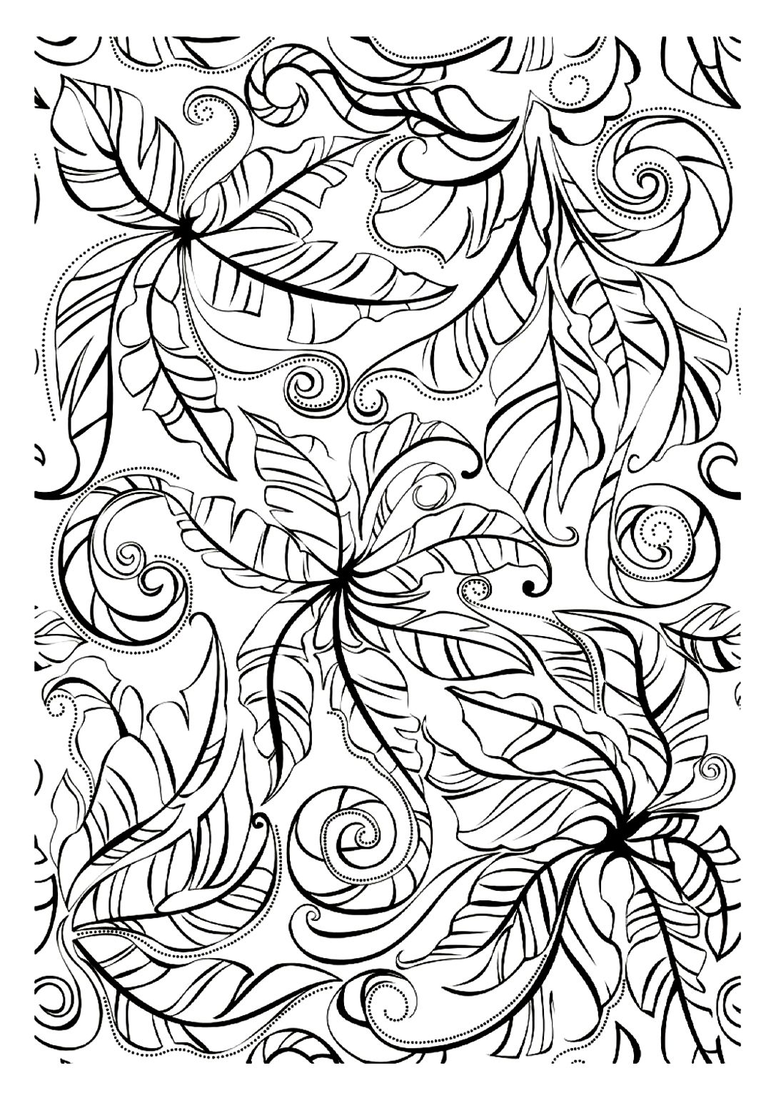 Free Coloring Page Adult Leaves A Disturbing Drawing Color It Ant Will Be For You To Choose What Its Represented