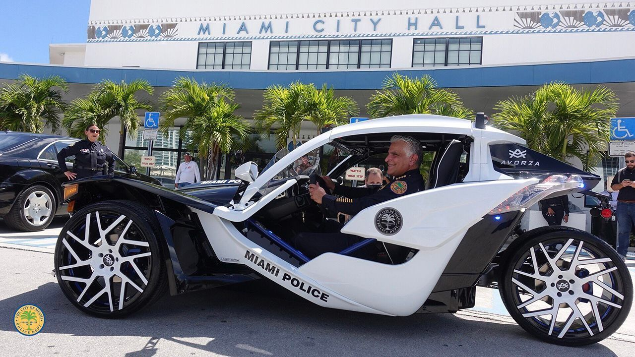 The miami police department just got the coolest cop car