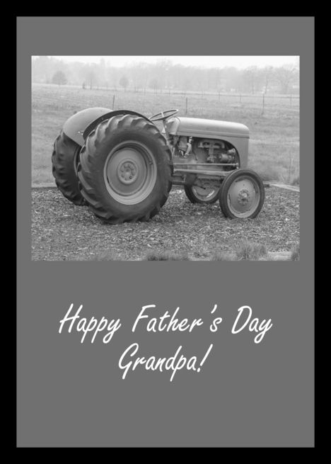 Happy Father's Day Grandpa - Vintage Tractor card | Happy ...