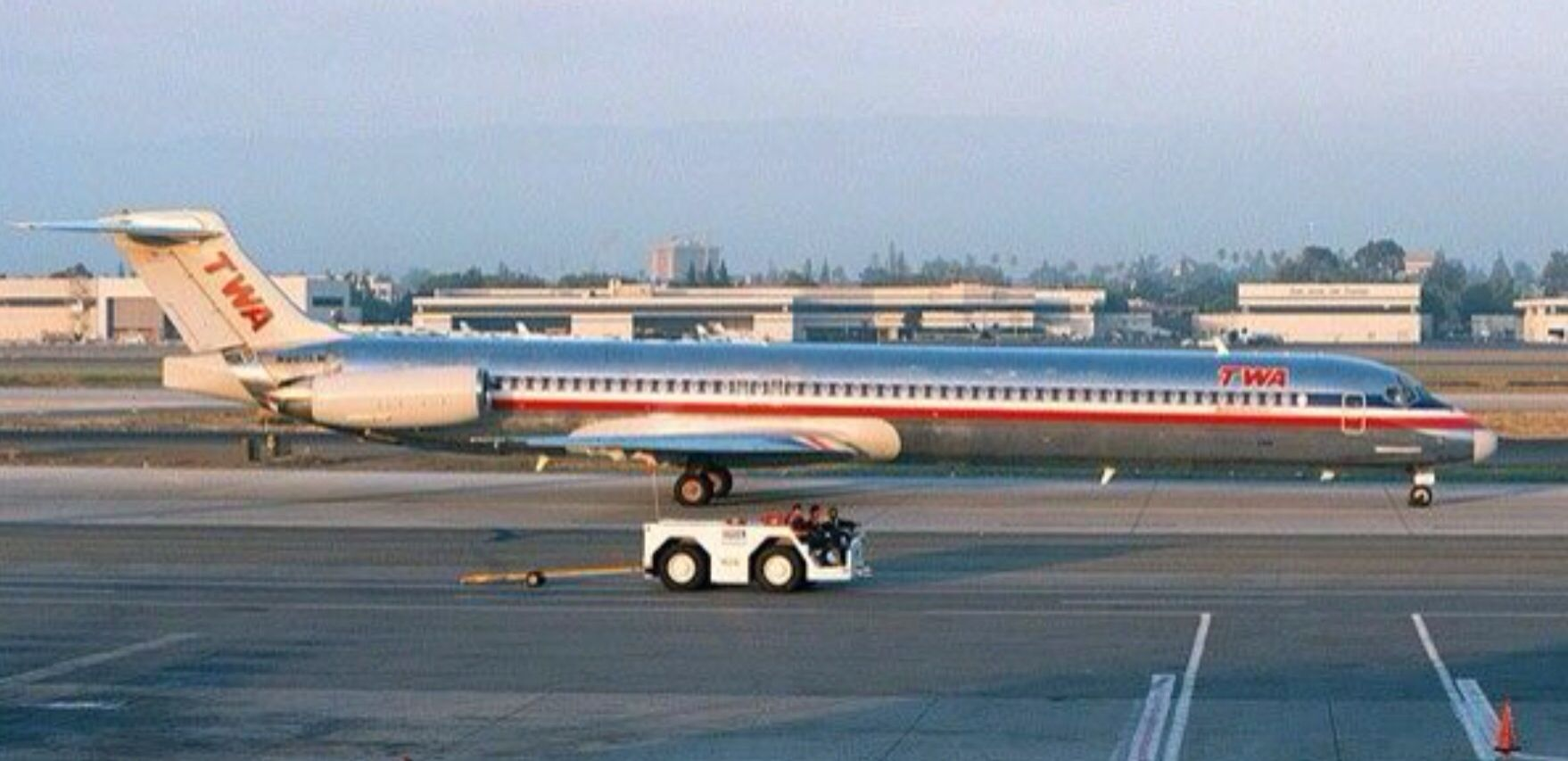 TWA/ American MD80 American airlines, Commercial