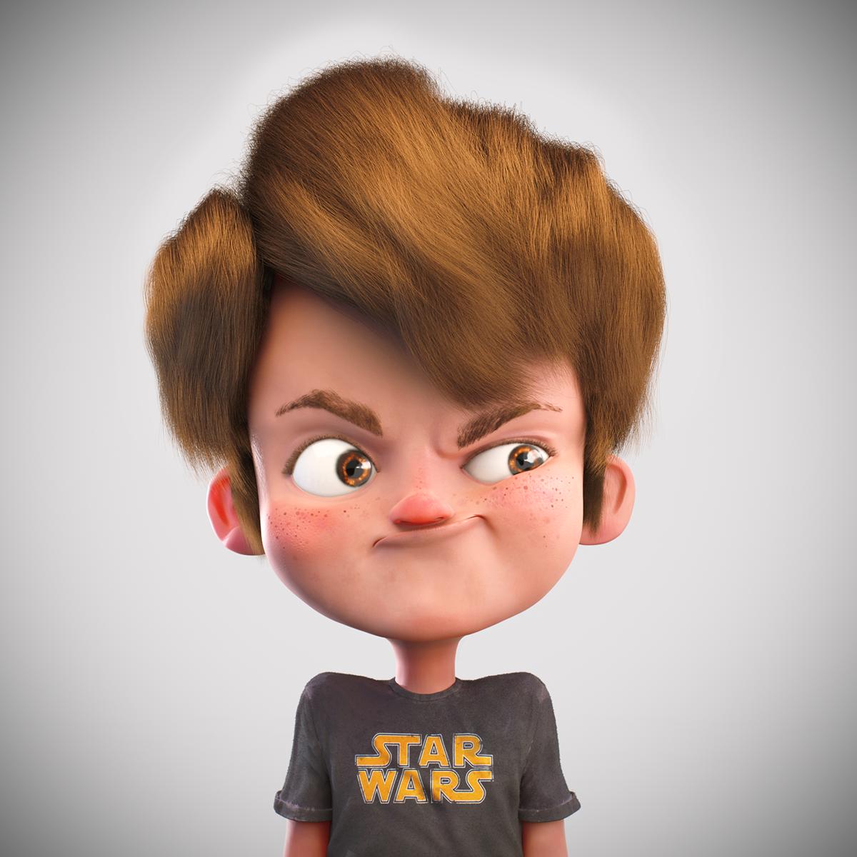 Star Wars Kid On Behance Cartoon Character Design Cartoon Girl Drawing Illustration Character Design
