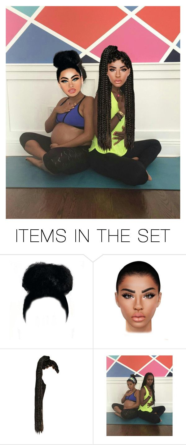 """""""Pregnant Yoga With Kamarie x Makaia"""" by kamarierose ❤ liked on Polyvore featuring art"""
