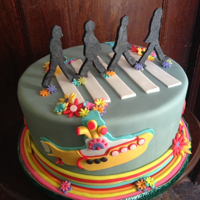 Fantastic A Birthday Cake For A Beatles Fan Beatles Birthday Cake Beatles Funny Birthday Cards Online Alyptdamsfinfo