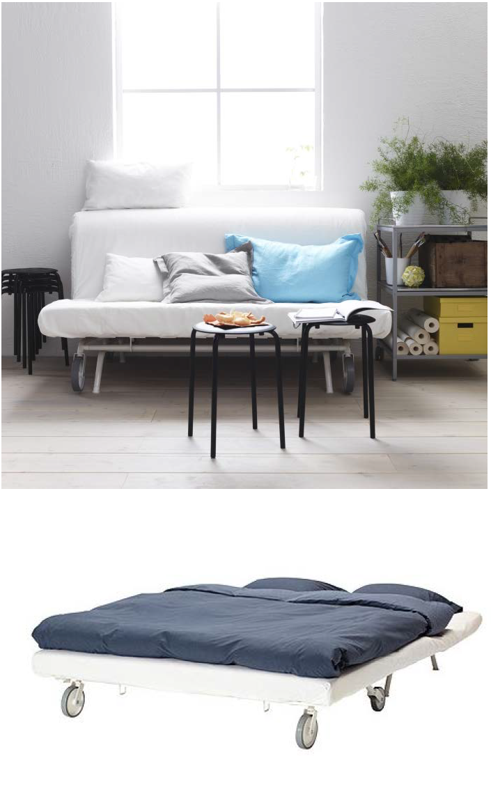 The IKEA PS sofa bed let\'s you choose from three different ...