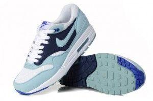 Zcag Nike Air Max 1 Licht Jade/Blau-Weiß Damen Laufschuhe