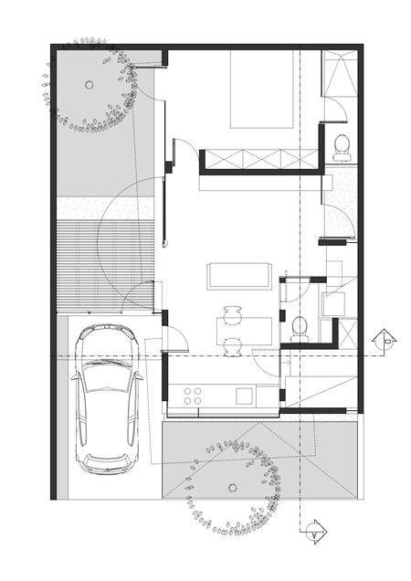 Gallery Of D Minution House Sub Studio For Visionary Design 10 Denah Rumah Desain Desain Rumah