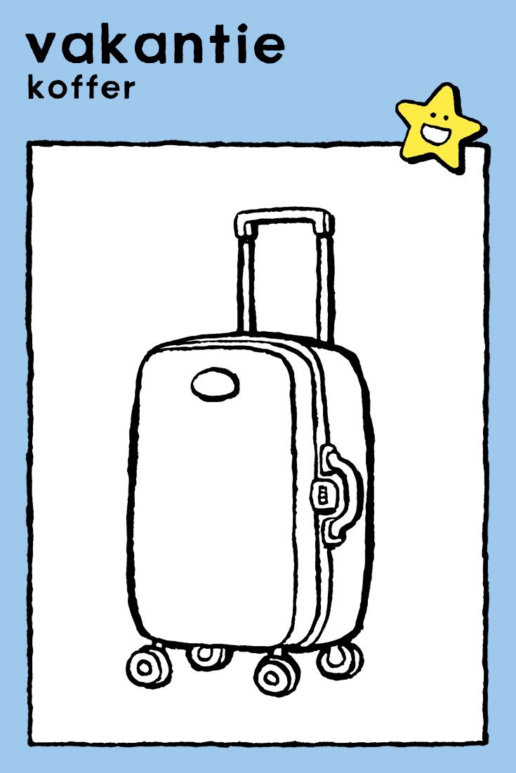 koffer vakantie wintervakantie goede reis
