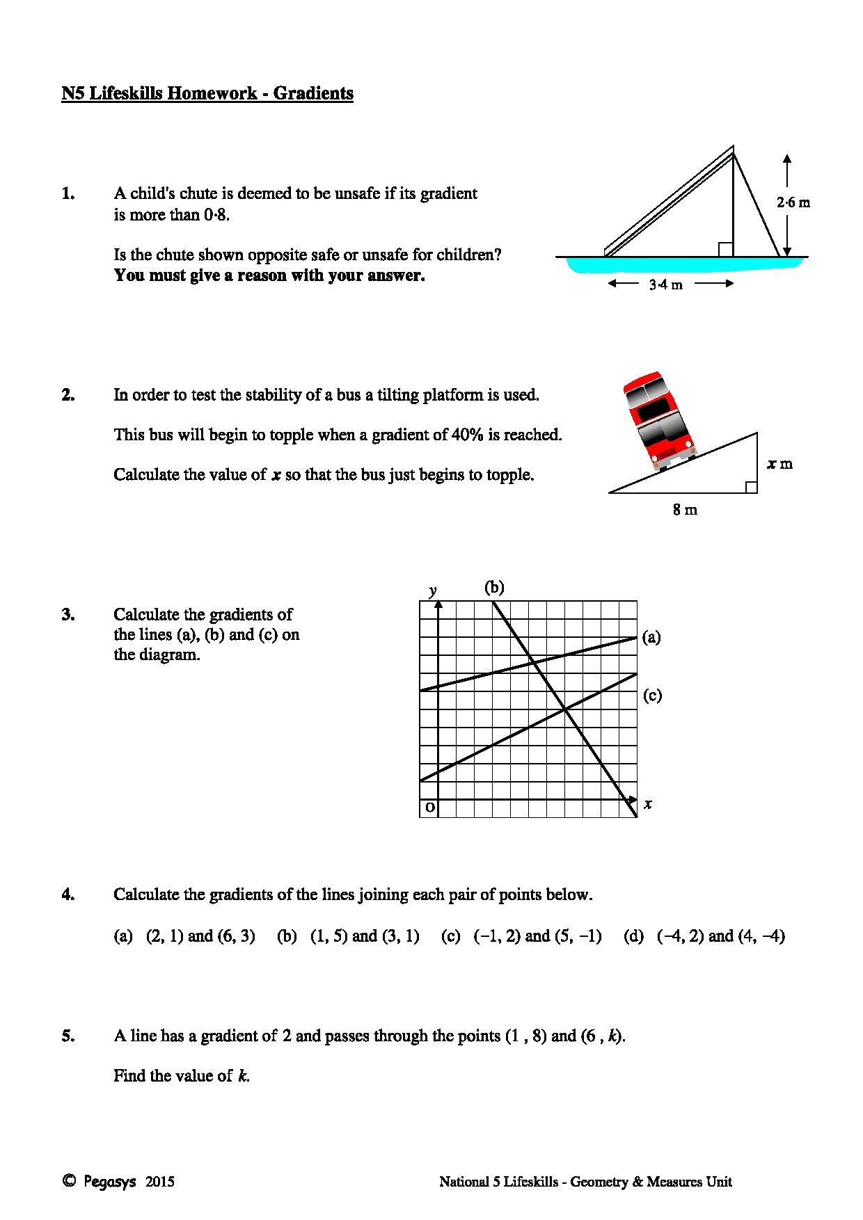 pegasys national 5 maths homework