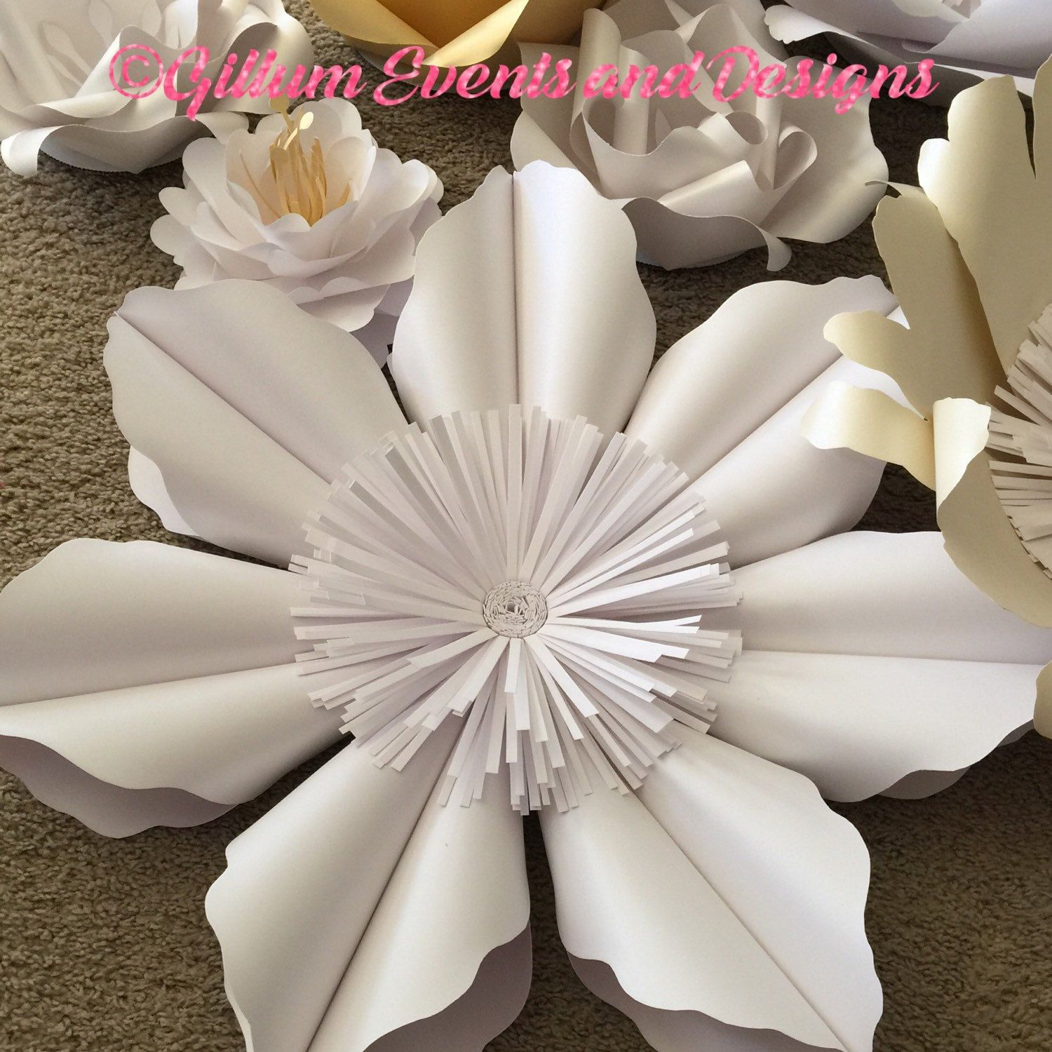 paper flower wall custom and handmade to order id. Black Bedroom Furniture Sets. Home Design Ideas