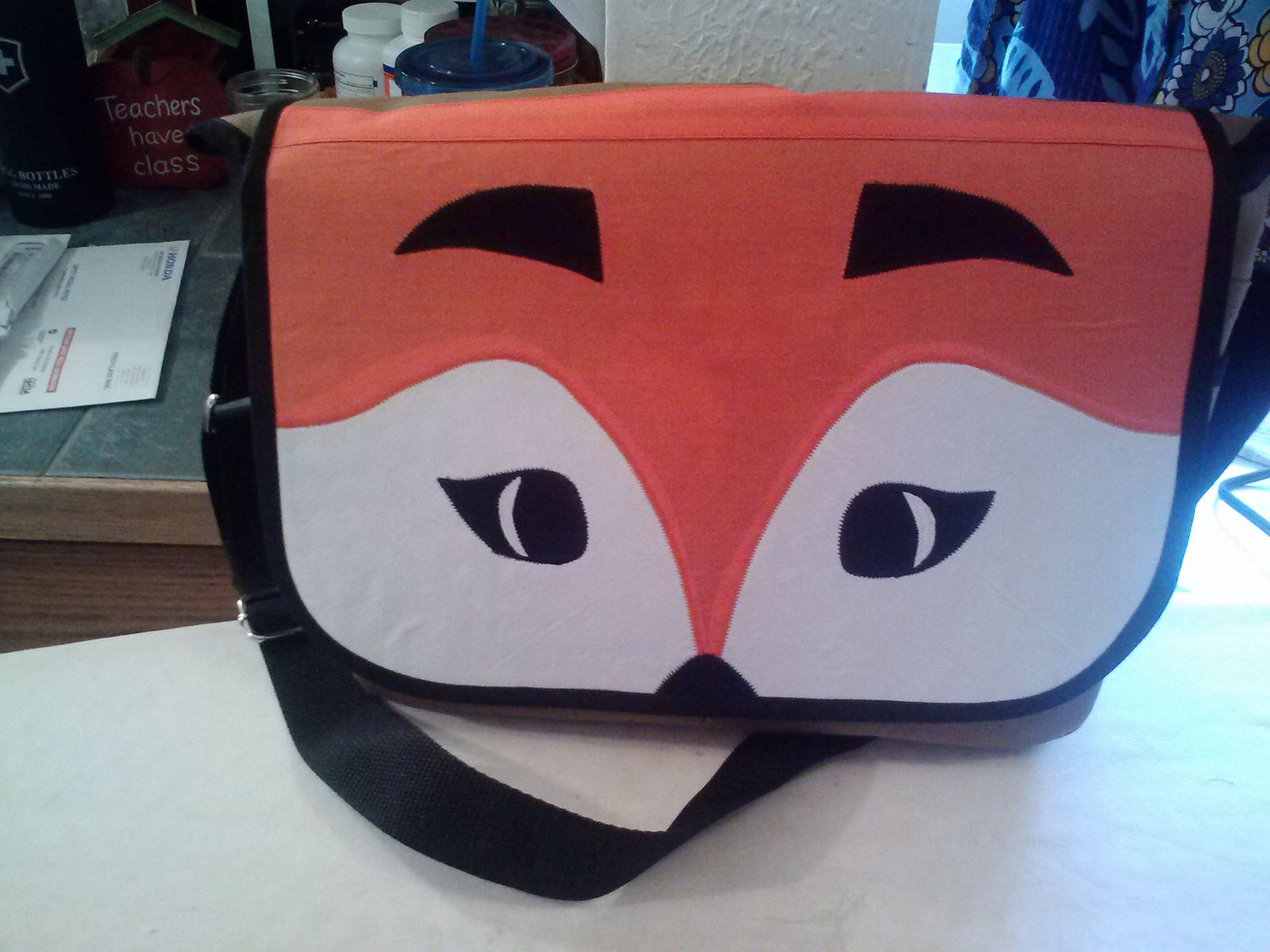 Messenger Bag From Little Things To Sew Made Into A Fox