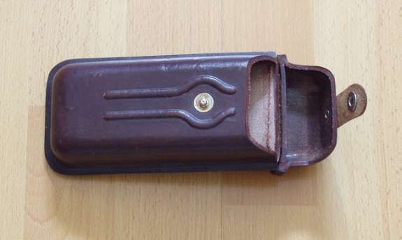 Bild 2: Leder-Etui für Brille, Stifte, Zigarren, etc. - Brillenetui - Federpenal - Zigarrenetui
