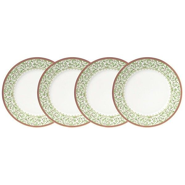 Holiday Traditions Dinner Plates Set of 4 ($70) ❤ liked on Polyvore featuring  sc 1 st  Pinterest & Holiday Traditions Dinner Plates Set of 4 ($70) ❤ liked on ...