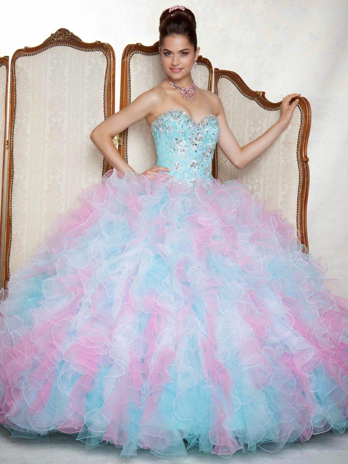 fcb3cb6f36 Lindos vestidos de 15 años para jovencitas