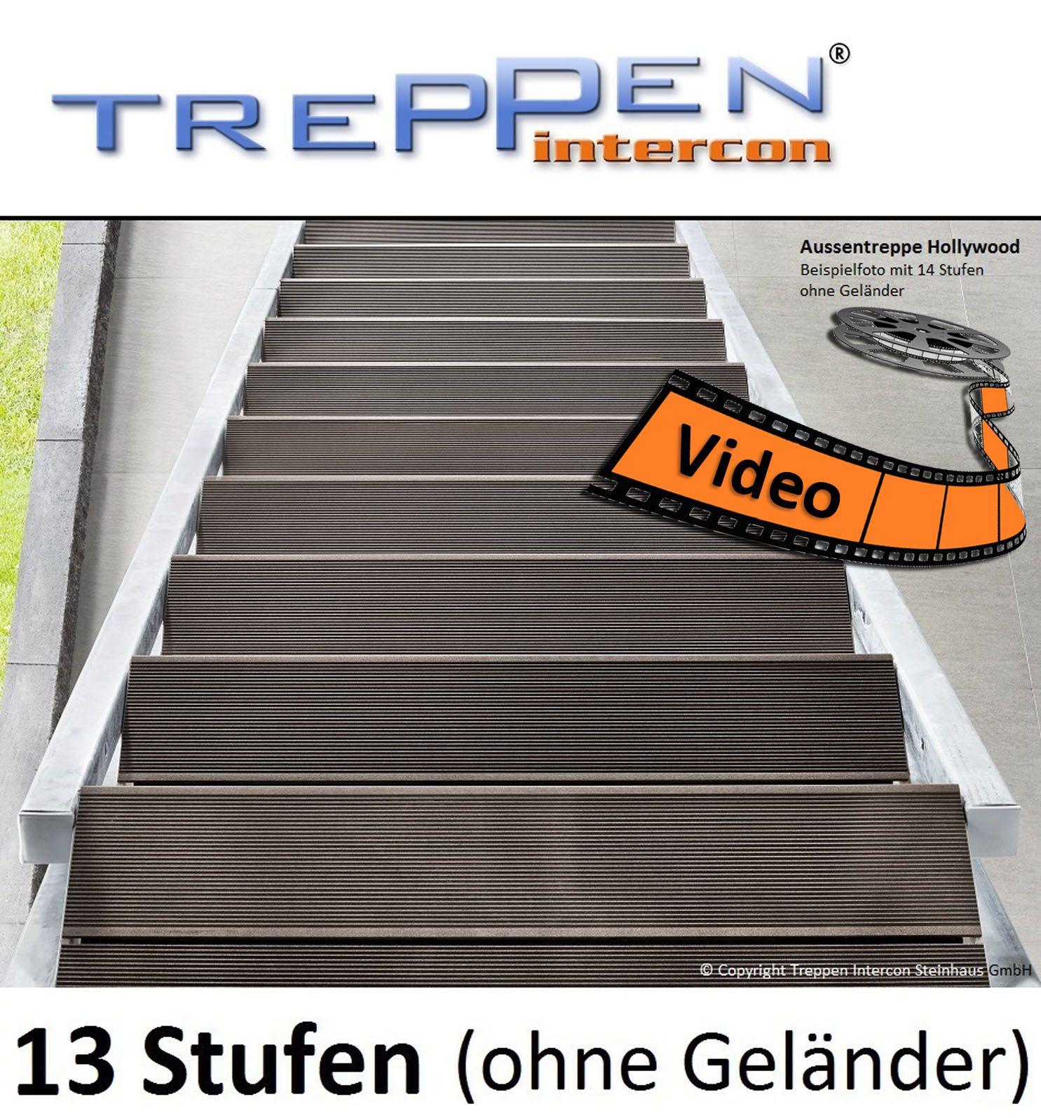 Wpc Stufen stahlwangentreppe mit edlen wpc stufen aussentreppe