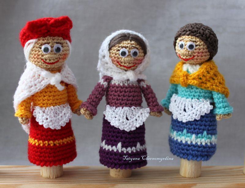 три бабульки | Títeres | Pinterest | Marioneta y Ganchillo