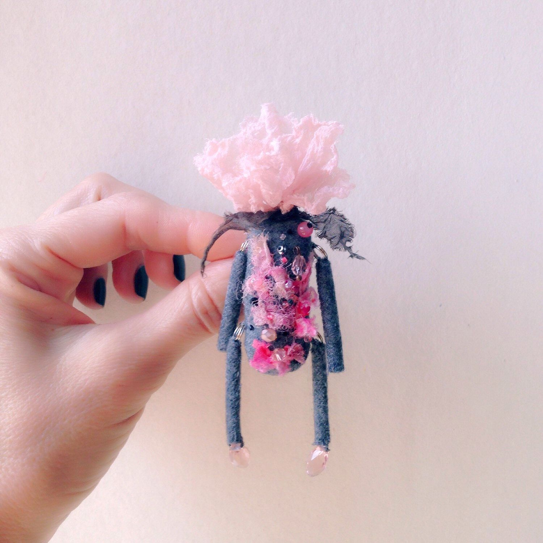 Unique Art Brooch Flower Brooch Flower Pin Fresh Pink Pink