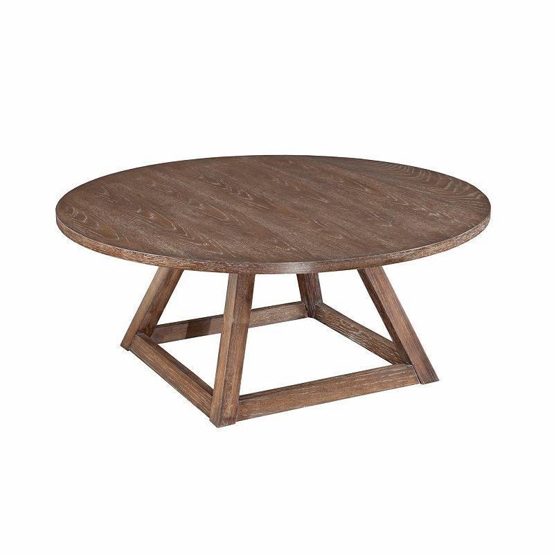 broyhill tadley round cocktail table 3690 013 living room rh pinterest com