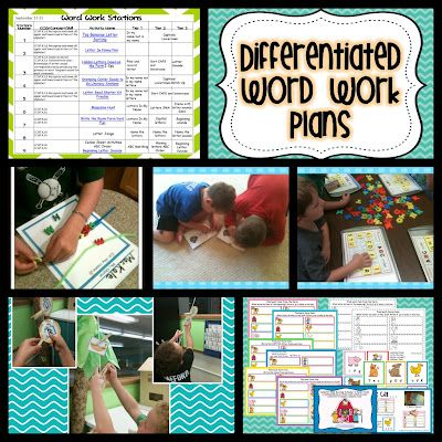 Differentiated Word Work Plan    And So It Begins  Word Work