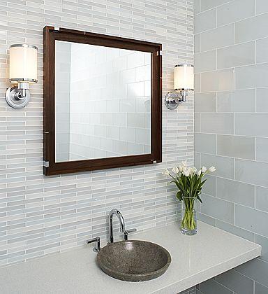 Beautiful Glass Tile Bathroom Wall Ideas