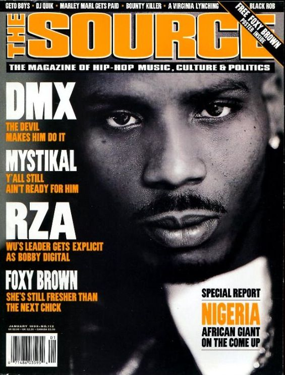 This is DMX featured on the cover of the magazine
