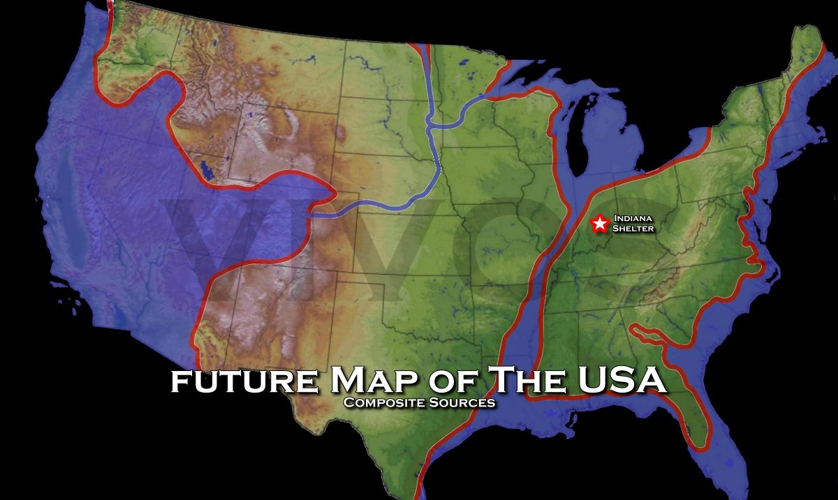 Us Navy Map Of Future America Future Map Of The United States - Future map of us