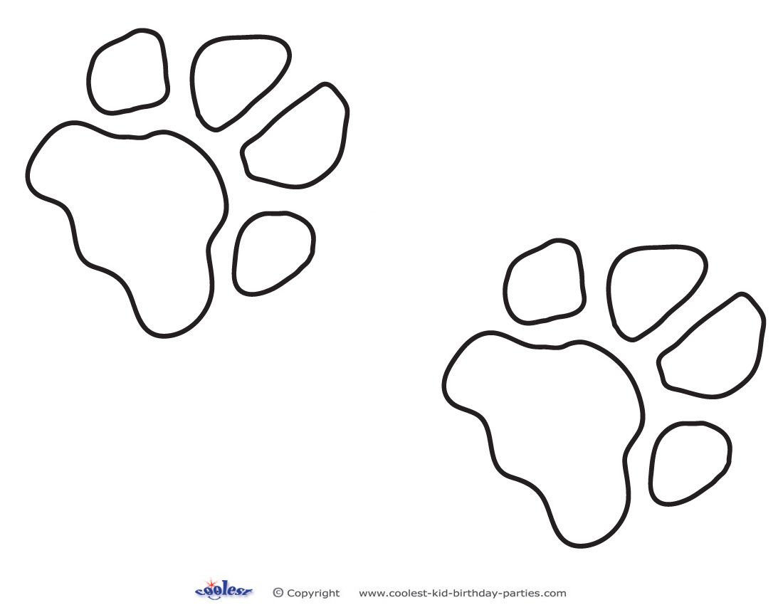 Printable Dog Paw Print Decoration Coolest Free Printables | Scooby ...