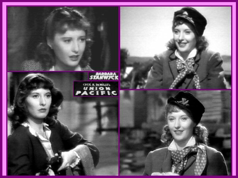 Barbara Stanwyck collage - Union Pacific by Neil Smith