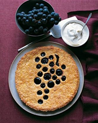 concord grape jam tart