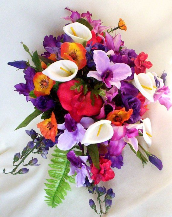 Tropical Wedding Flowers Reserved CUSTOM for nvyblue | Purple ...