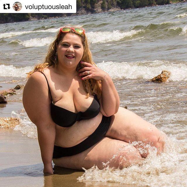 Fat Girl At The Beach  E C  Wearing A Fatkini  E C  Sitting In A